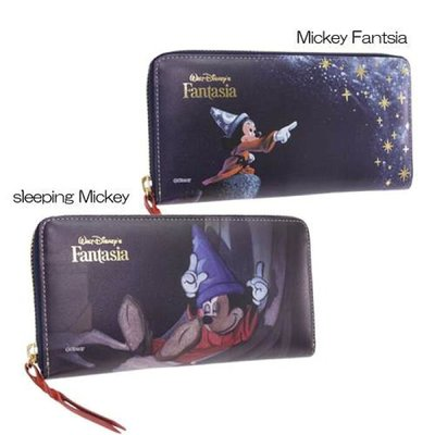 🇯🇵【Made in Japan】Mickey and Minnie 米奇 日本原裝正版 真皮 長銀包 div-fa-01-2