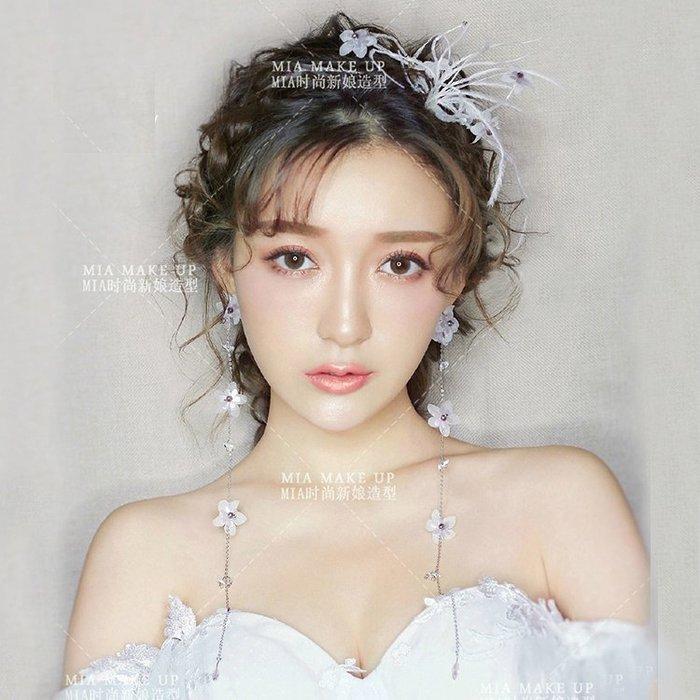 頭飾 髮飾 首飾 巴洛克新娘頭飾花朵發帶甜美飾品發箍婚紗禮服敬酒服配飾結婚發飾