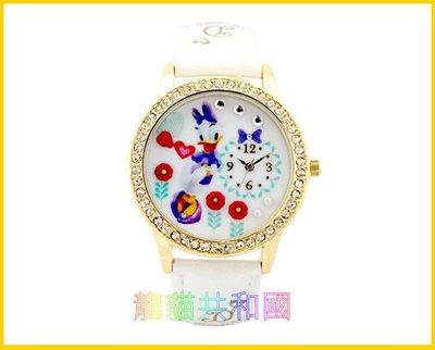 ※龍貓共和國※日本迪士尼Disney《唐老鴨黛西 米妮 灰姑娘仙度瑞拉 鑲鑽手錶 腕錶》 生日情人節禮物【日本正版】B