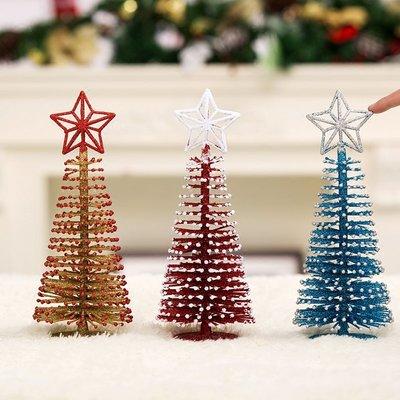 聖誕節裝飾品創意迷你樹聖誕禮物店鋪桌面迷你小樹擺臺裝飾用品