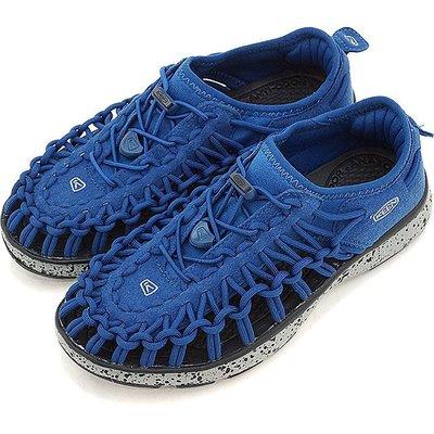 =CodE= KEEN UNEEK O2 SANDALS 編織彈性綁繩包後跟涼鞋(藍灰) 1016660 拖鞋 大童 女