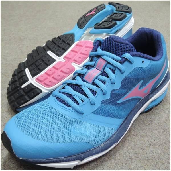 運動GO 美津農 MIZUNO 慢跑鞋 運動鞋 耐磨大底 WAVE UNITUS 水藍 J1GF152159