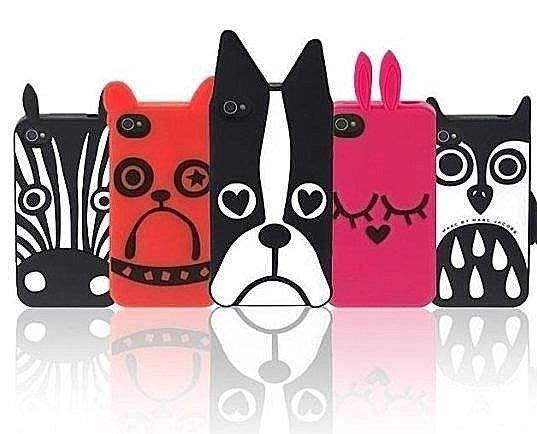 歐美潮牌矽膠套 卡通動物園保護套 iphone4s 5S 動物 斑馬 狗 矽膠 防摔 軟 保護套 手機殼