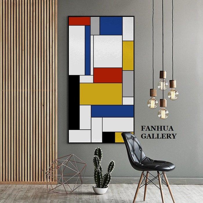 C - R - A - Z - Y - T - O - W - N Mondrian蒙德里安荷蘭藝術家現代主義裝飾畫當代藝術巨幅豎版掛畫住宅空間美學裝飾掛畫