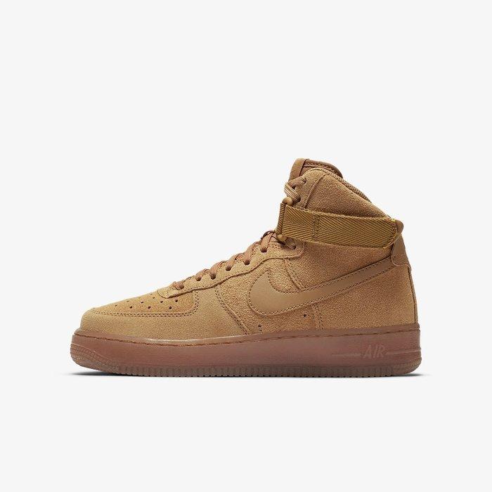 GOSPEL【 Nike Air Force 1 High LV8 3 GS 】卡其 小麥色 女鞋 CK0262-700