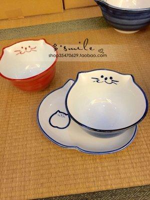 (精品屋)進口大胃王吃貨木下超萌超可愛貓咪碗飯碗小餐盤