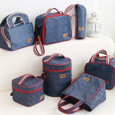 都來繡 飯盒袋保溫手提袋防潑水便當包零食包布袋圓形帶飯包新款~全館免運 『青木居家』qw