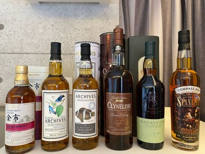 余市、Highland Park .Glen Grant.Lagavulin .clynelish.Compass Box