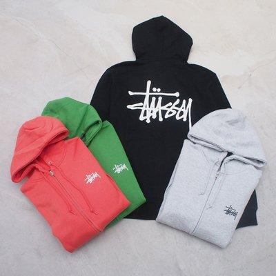 【車庫服飾】STUSSY 19FA HO BASIC STUSSY ZIP HOOD 外套 前小後大LOGO 連帽外套