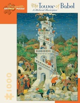美國拼圖 POM THE TOWER OF BABEL  巴別塔 通天塔 巴比倫塔 1000片拼圖 AA575