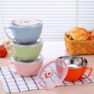 不銹鋼泡面碗帶蓋學生吃飯碗宿舍方便面碗便當盒湯杯家用神器飯盒YSY