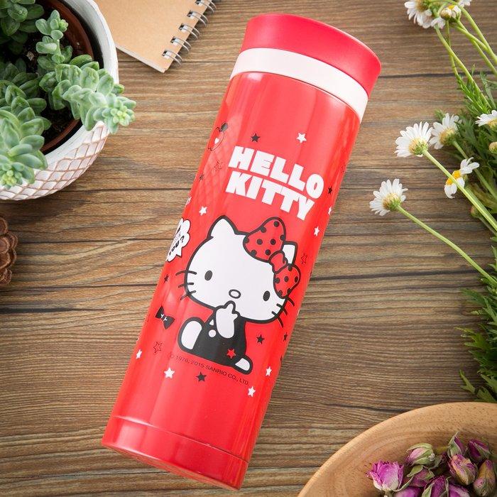 41+現貨免運費  Hello Kitty 紅色保溫杯480ml