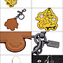 ↗小夫妻精品嚴選↖COACH xDisney Mickey聯名限量真皮鑰匙圈/配件/吊飾 59869 黃色【現貨免運】