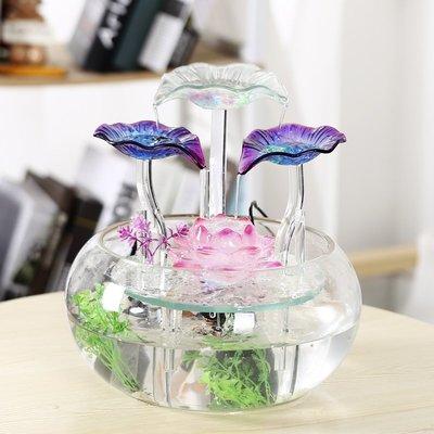 客廳桌面小型噴泉招財風水球流水擺件魚缸家居裝飾品喬遷開業禮品小豬佩奇