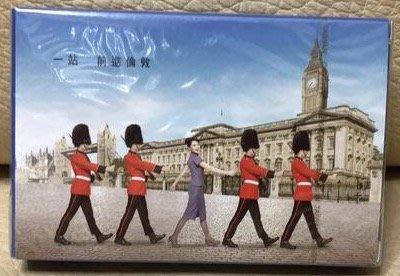 全新華航 中華航空 CHINA AIRLINES 一站前進倫敦 飛機 紀念 撲克牌 收集 收藏