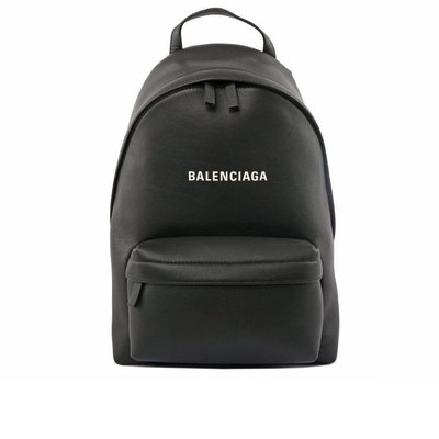 Balenciaga 經典logo 牛皮 後背包 黑色 9.8新