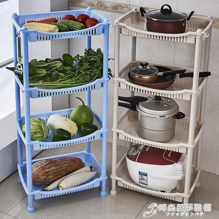 廚房置物架水果蔬菜架廚房用品鍋電飯煲收納架儲物架塑料落地層架WD