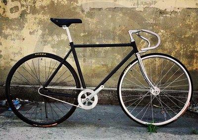 單速車 fixed gear 死飛復古系列 死飛自行車倒騎倒剎固齒場地車競速 古典黑