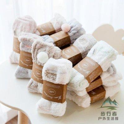 【蘑菇小隊】4雙裝 聖誕毛巾襪女睡眠襪子毛絨絨保暖-MG34460