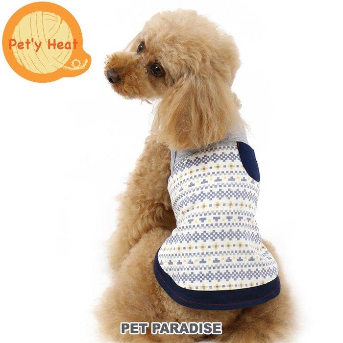 貝果貝果 日本 pet paradise  發熱衣 幾何方塊 帥氣背心上衣   [D12019] 大狗