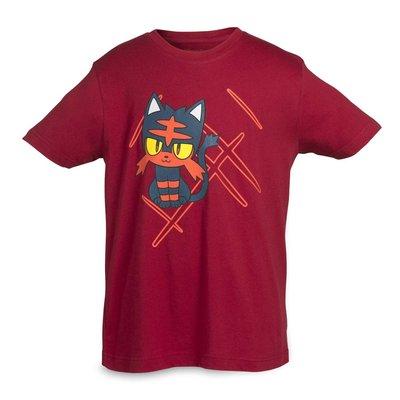 寶可夢 火斑喵 T-Shirt 純棉 美國神奇寶貝中心 限定原裝進口 童裝