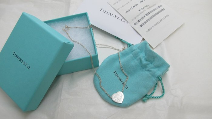 Tiffany&Co 經典款 橫式愛心牌雙鍊項鍊 純銀925項鍊,台北20年老店可面交,滿意度100%,近捷運