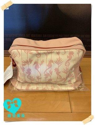 ☆CLARINS 克蘭詩帆布粉色化妝包 巧繪包/手繪包/ 手提包