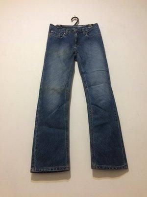 ❤夏莎shasa❤專櫃品牌RALPH LAUREN(POLO JEANS)斜刷淺色寬管直筒褲/小喇叭牛仔褲/1元起標