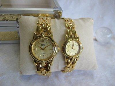 二手舖~ NO.1 高級時尚瑞士歐寶OPAL男女對錶 老闆慶祝3周年原價6660元優惠價1對只賣1600元 庫存全新品