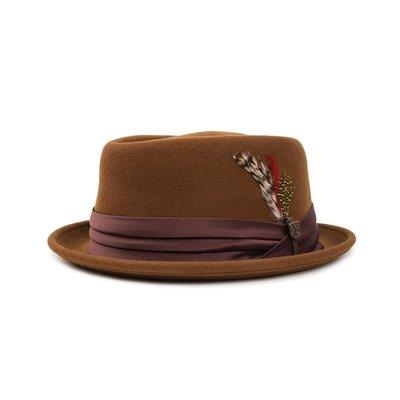 [CABAS滑板店] BRIXTON STOUT PORK PIE 咖啡色 │紳士帽 加州 品牌