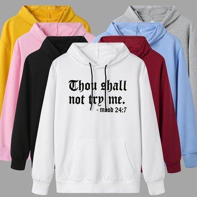 thou shall not trp me歐美連帽大學T 衛衣 女 熱賣長袖套頭上衣女