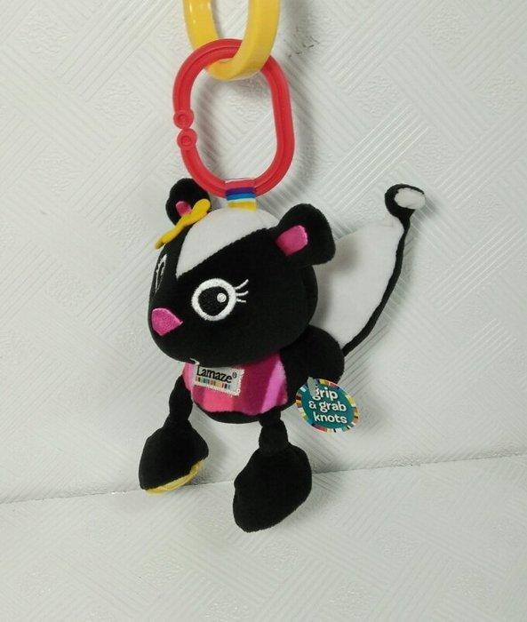 ☆奇奇娃娃屋(CP)☆Lamaze品牌,可愛的小鼬鼠車掛布玩具/安撫玩偶~150元