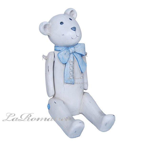 【芮洛蔓 La Romance】德國 Heidi 童趣家飾 - 粉藍蝴蝶結巧比熊 / 動物擺飾 / 小孩房 / 兒童房