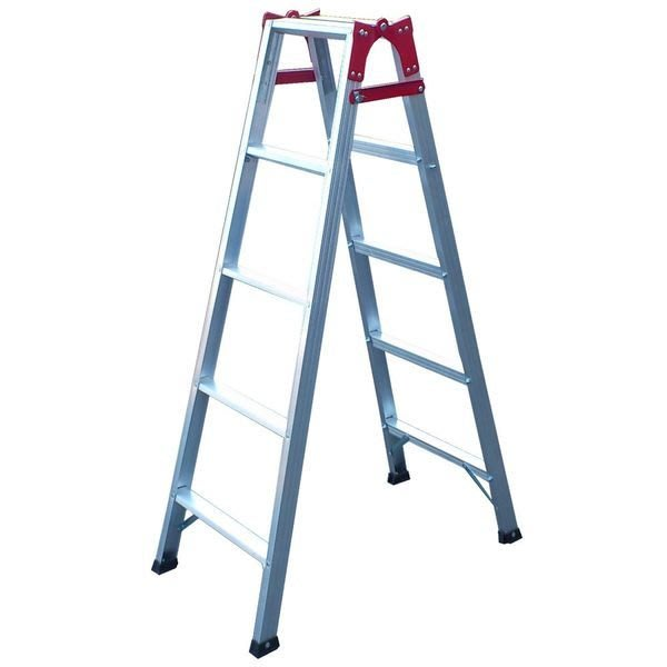 兩用梯! 5階 直馬梯 A字梯141公分 一字梯 鋁梯 梯子 馬椅梯 關節梯 安全荷重80kg 台灣原廠 5尺