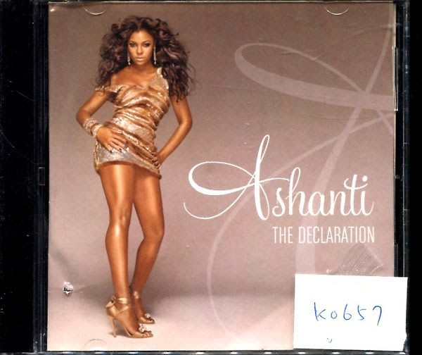 *真音樂* ASHANTI / THE DECLARATION 二手 K0657 (封面底破) (清倉.下標賣3)