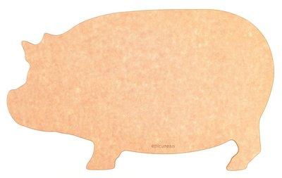 ﹝桔梗家居﹞奇摩首發! 美國原裝 Epicurean T-Line系列小豬造型砧板 自然色 起司板 麵包板 肉盤 木砧板