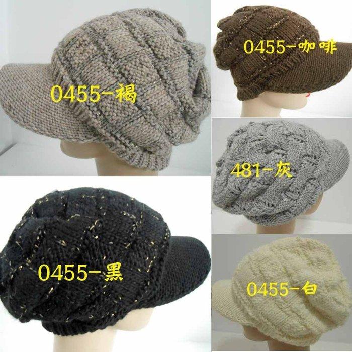 //阿寄帽舖/#0455    男女金蔥方格織 麻花織  雙層毛線貝蕾帽! 阿哥哥帽   男女都可以載.!!