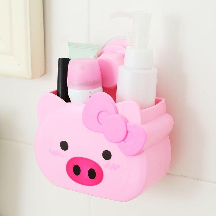 奇奇店-浴室置物架吸盤收納架壁掛衛生間儲物架衛浴免打孔塑料廚房收納盒#構思新巧  #精巧別致 #經久耐用