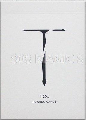 [808 MAGIC]魔術道具 限量純色牌 Sword T Playing Card 白色