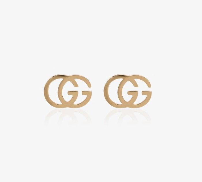 【代購】 Gucci LOGO 18K 金色 耳環