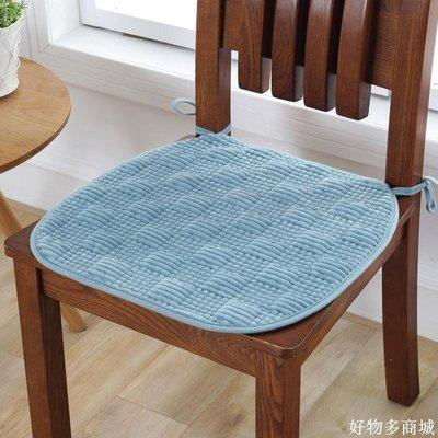 精選 訂製冬季加厚毛絨辦公室椅子墊四季布藝學生防滑餐椅墊汽車座墊子