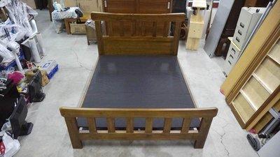 皇齊柚木雙人床架 5x6 實木雙人床架 實木床架 柚木雙人床 實木雙人床組 床架 床箱 床台 床框 床頭片