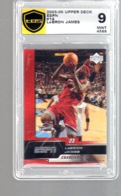 【宇宙】2005世界最強小皇帝「JAMES」tBS鑑定9級ESPN高價卡品號品號2152