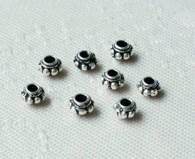嗨,寶貝銀飾珠寶* 925純銀飾 DIY串珠配件☆4.5mm齒輪隔珠 墊片純銀 掛飾配飾手鍊掛件配件☆配件 串珠