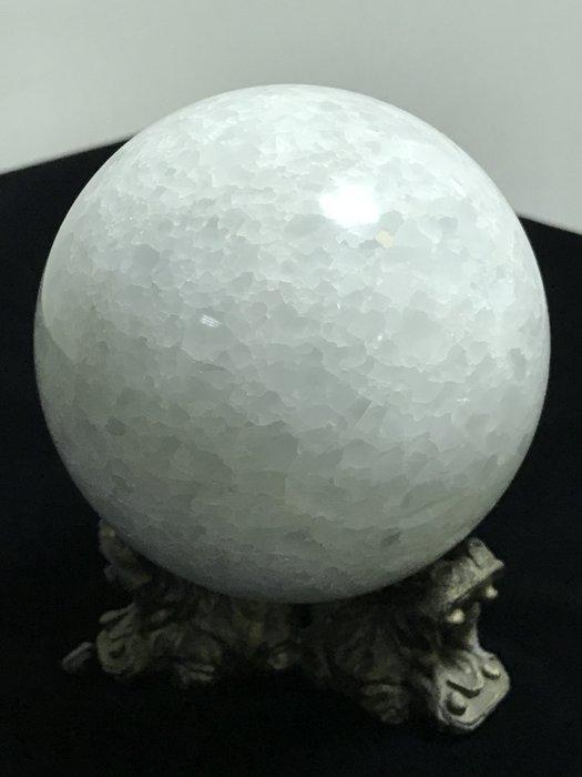 原石白色水晶結晶球