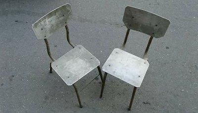 【老家舊院】 手工打造,鋁製椅子,二張合售。