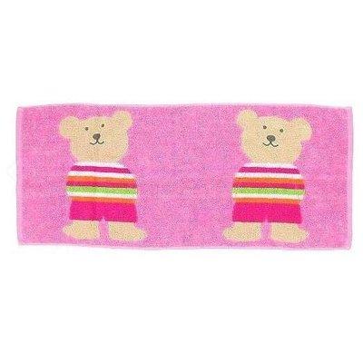 *現貨*日本製 Rainbow Bear 彩虹熊 純棉毛巾 長毛巾 34*80cm 兩隻大熊 今治產 台中市