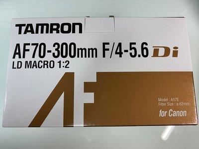 全新行貨Tamron AF 70-300mm F4-5.6 Di LD Macro 1:2 Canon AF (A17)
