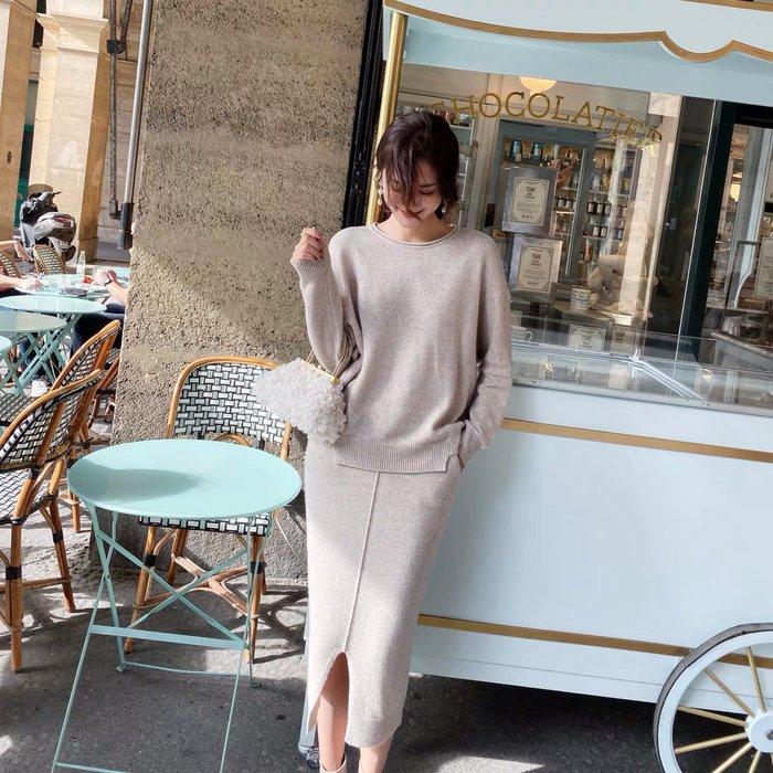 ❤JM SHOP韓風❤優雅入冬毛衣針織半身裙OL通勤套裝