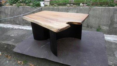 A159大切木業 櫸木 樹頭 原木板 實木板 原木 實木 小茶几 咖啡桌 桌子 小邊桌 鐵腳 泡茶桌 書桌 寫字桌